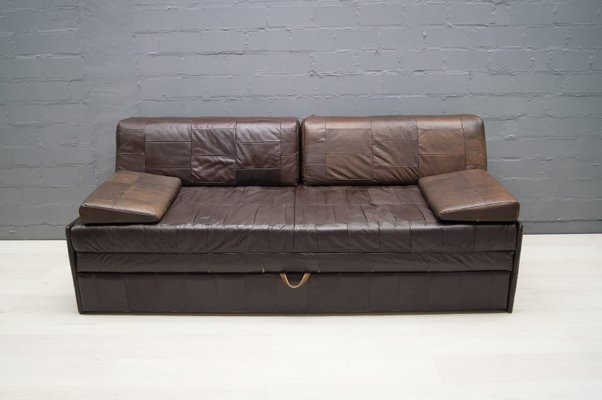 Vintage Patchwork Leather Sofa, 1960s for sale at Pamono