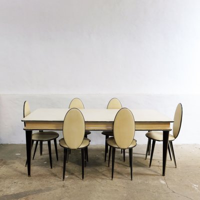 Mid Century Dining Set By Umberto Mascagni For Harrods, 1950s, Set Of 7