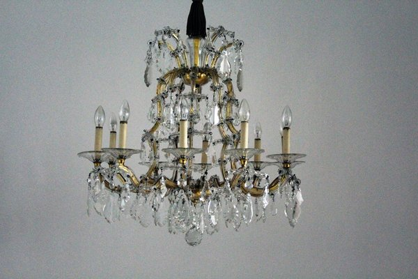 Antique Viennese Large Crystal Chandelier from Lobmeyr 1 - Antique Viennese Large Crystal Chandelier From Lobmeyr For Sale At