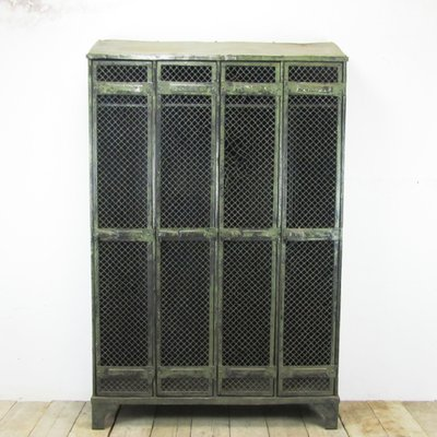 Industrial Vintage Locker with 4 Doors from Strafor 1930s 1  sc 1 st  Pamono : locker doors - pezcame.com