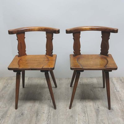 Antique Wooden Chairs, Set of 2 2 - Antique Wooden Chairs, Set Of 2 For Sale At Pamono