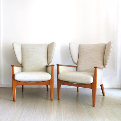 Superior Vintage Wingback Chairs From Parker Knoll, 1960s, Set Of 2 1