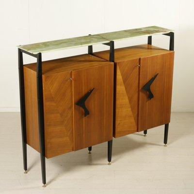 Wohnzimmer Schrank Aus Ahorn U0026 Mahagoni Furnier, 1950er 1