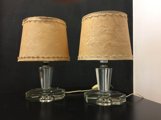 Vintage italian glass table lamps from cristal art 1950s set of 2 vintage italian glass table lamps from cristal art 1950s set of 2 1 audiocablefo