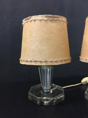 Vintage italian glass table lamps from cristal art 1950s set of 2 vintage italian glass table lamps from cristal art 1950s set of 2 2 audiocablefo