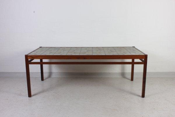 MidCentury Danish Teak Ceramic Coffee Table for sale at Pamono
