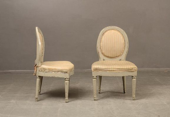 Antique Swedish Side Chairs, Set of 2 2 - Antique Swedish Side Chairs, Set Of 2 For Sale At Pamono