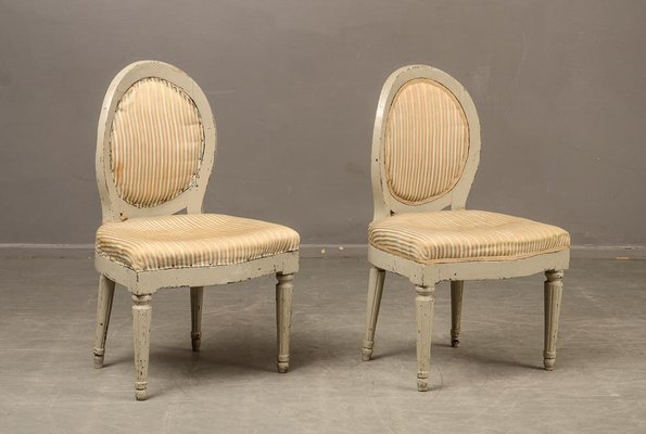 Antique Swedish Side Chairs, Set of 2 1 - Antique Swedish Side Chairs, Set Of 2 For Sale At Pamono