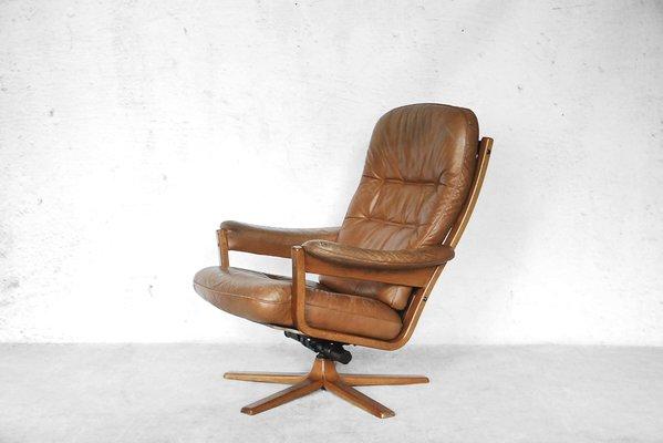 Swedish Swivel Lounge Chair From Gate Möbel, 1960s 2