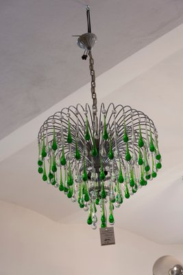 Italian murano crystal teardrop waterfall chandelier 1950s for sale italian murano crystal teardrop waterfall chandelier 1950s 7 aloadofball Gallery