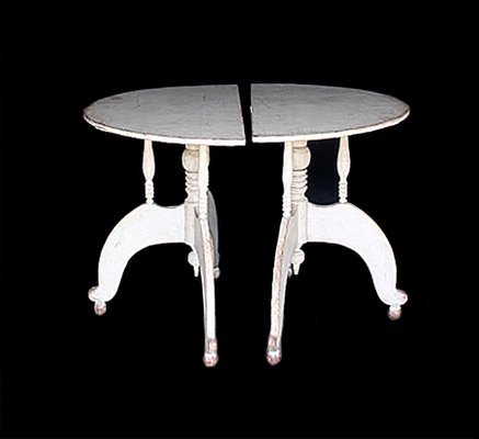 Antique Swedish Demi Lunes Side Tables Set of 2 1 & Antique Swedish Demi Lunes Side Tables Set of 2 for sale at Pamono