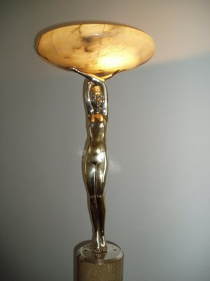 Art deco floor lamp by pierre le faguays 1920s for sale at pamono art deco floor lamp by pierre le faguays 1920s 6 mozeypictures Image collections