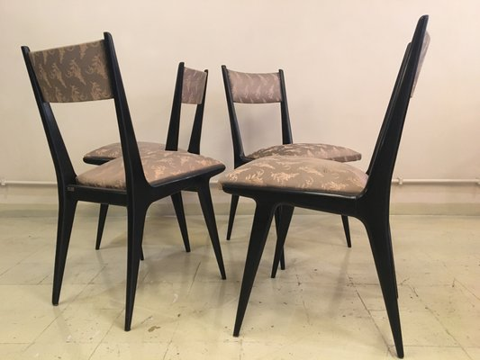Vintage Dining Chairs by Silvio Cavatorta, Set of 4 2 - Vintage Dining Chairs By Silvio Cavatorta, Set Of 4 For Sale At Pamono