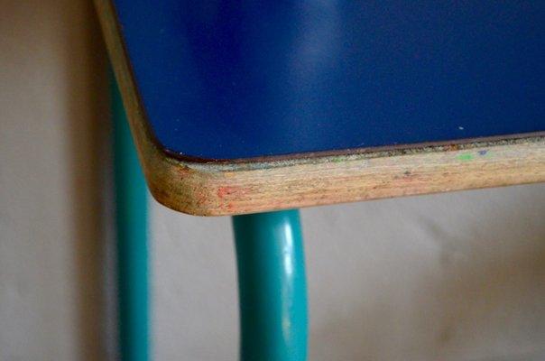 blue school chair. Dark Blue School Desk \u0026 Chair, 1960s 4 Chair