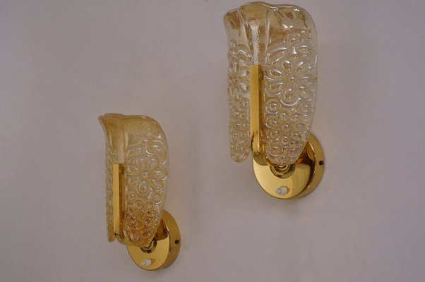 Mid century swedish brass glass wall lights set of 2 for sale at mid century swedish brass glass wall lights aloadofball Choice Image