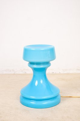 Blue Glass Table Lamp, 1960s 1