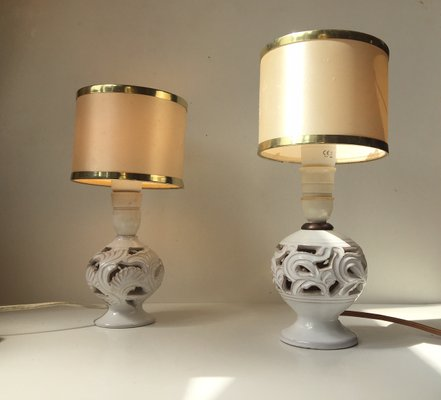 Vintage perforated danish pottery table lamps by michael andersen vintage perforated danish pottery table lamps by michael andersen set of 2 1 mozeypictures Choice Image