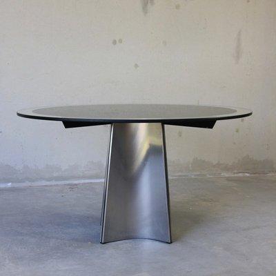 Tavolo rotondo in vetro di Luigi Saccardo per Arrmet, anni \'70 in ...