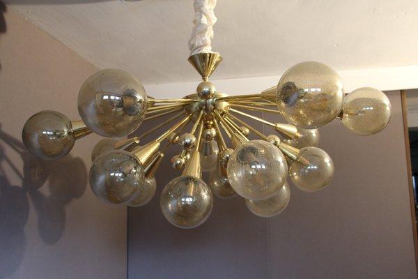 Vintage gold semi sputnik ceiling light with murano glass for sale vintage gold semi sputnik ceiling light with murano glass 1 aloadofball Gallery