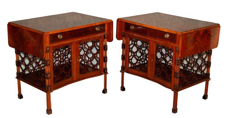 Mid Century Mahogany Coffee Tables Set Of 2 1