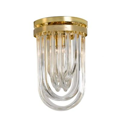 Vintage curved murano glass gilt brass flush mount ceiling lights vintage curved murano glass gilt brass flush mount ceiling lights from venini set of aloadofball Choice Image