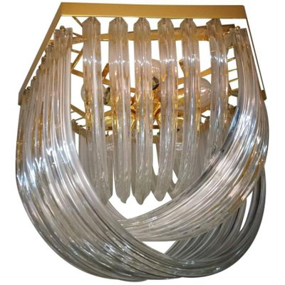 Vintage Curved Murano Glass Flush Mount From Venini 1