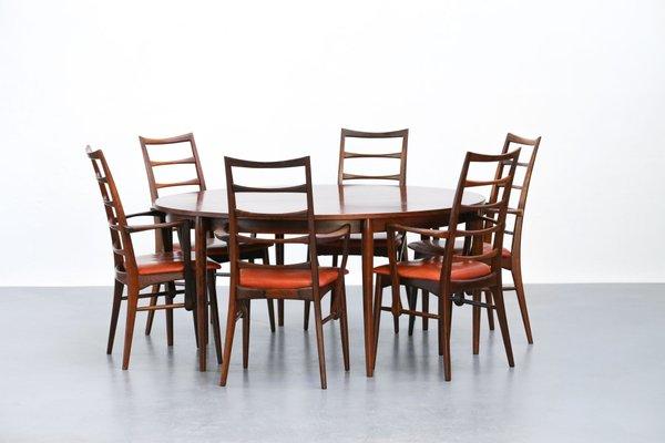 Tisch Mit 6 Stühlen dänischer vintage palisander tisch und 6 stühle niels koefoed