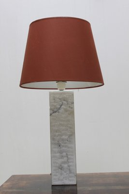 Chiseled Marble Table Lamp, 1970s 1