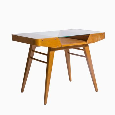 Awesome Mid Century Side Table With Glass Top 3