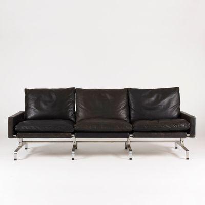 Pk 31 3 Seater Leather Sofa By Poul Kjaerholm For E Kold Christensen 1