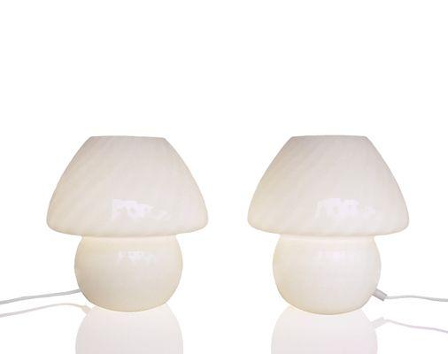 Murano glass mushroom table lamps 1960s set of 2 for sale at pamono murano glass mushroom table lamps 1960s set of 2 2 aloadofball Images