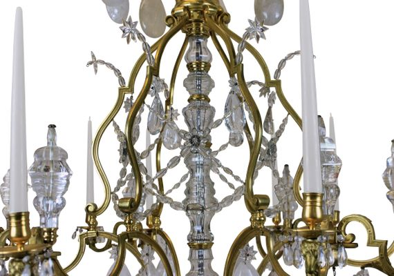 Large antique louis xiv gilt bronze rock crystal chandelier for large antique louis xiv gilt bronze rock crystal chandelier 2 aloadofball Image collections
