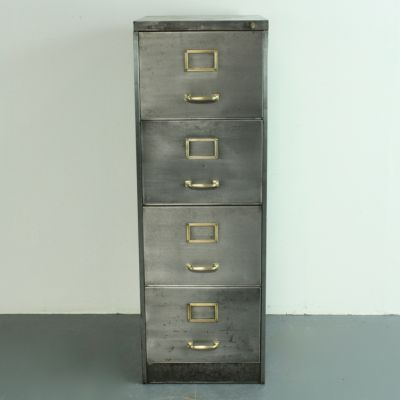 vintage filing cabinet steel at file pamono sale for drawer polished