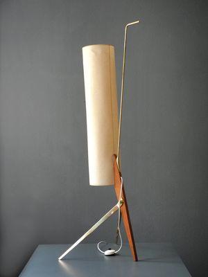 Lampada da terra Mid-Century moderna tripode con paralume ...
