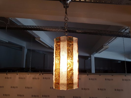 Mid Century Murano Glass Ceiling Lamp 2