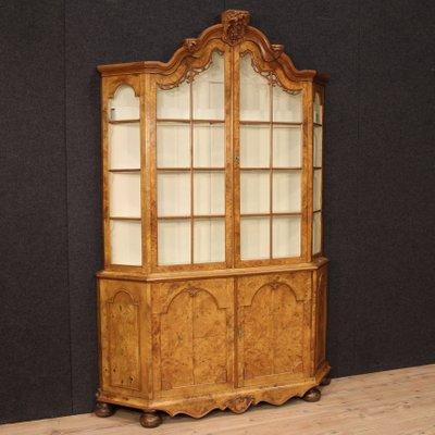 Dutch Display Cabinet In Walnut And Burl Elm 1880s 1