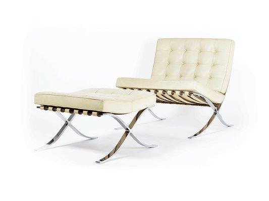 pavilion barcelona and ottoman chair mlf a
