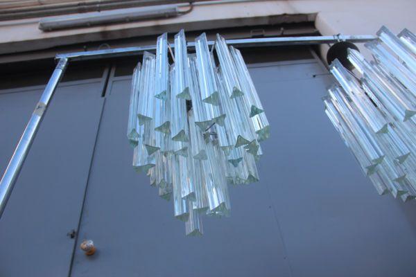 Murano Glas Kronleuchter von Venini, 1960er, 2er Set bei Pamono kaufen
