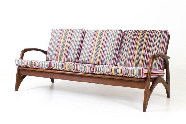 Organic Teak Sofa From De Ster Gelderland, 1960s 2