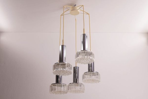 one flow modern light by five century crystal lamps bubble glass mid pendant staff of chrome