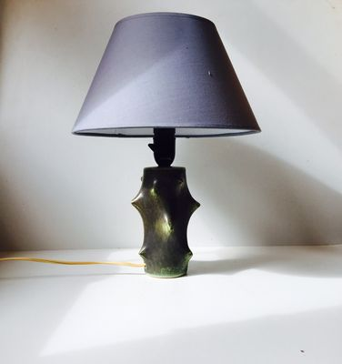 Scandinavian modern rose thorn ceramic table lamp by knud basse for michael andersen son