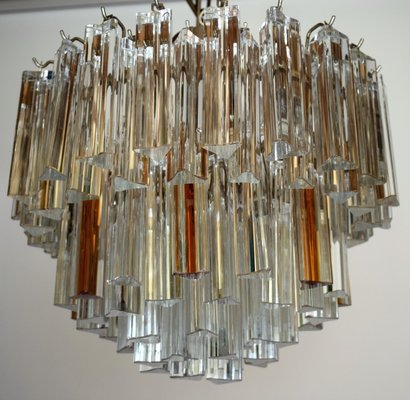 Mid century modern chandelier with clear and amber glass for sale at mid century modern chandelier with clear and amber glass 1 mozeypictures Choice Image