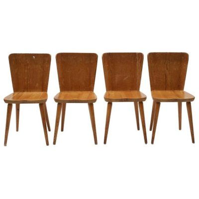 Model 510 Svensk Fur Chairs By Göran Malmvall For Karl Andersson U0026 Söner,  1950s,