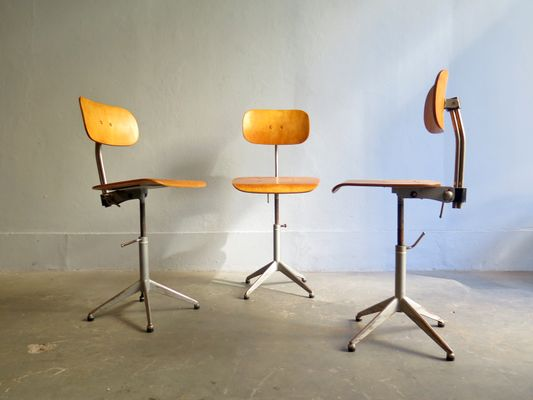 Sedie Ufficio Vendita : Sedia da ufficio vintage industriale regolabile in vendita su pamono