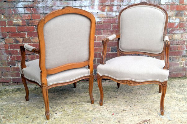 Antique French Salon Chairs, Set of 2 1 - Antique French Salon Chairs, Set Of 2 For Sale At Pamono