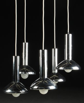German mid century five light pendant lamp in chrome from hustadt german mid century five light pendant lamp in chrome from hustadt leuchten mozeypictures Image collections