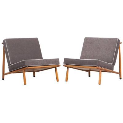 Mid Century Lounge Chairs By Alf Svensson For DUX, Set Of 2 1