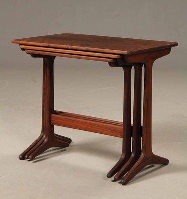 Danish Nesting Tables In Rosewood By Erling Torvits For Heltborg Møbler,  1960s 2