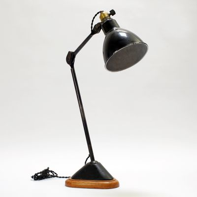 206 Table Lamp with Oak Base by Bernard Albin Gras, 1920s for sale ...