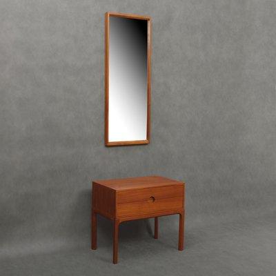 Specchio e mobiletto da ingresso in teak di Aksel Kjersgaard per ...